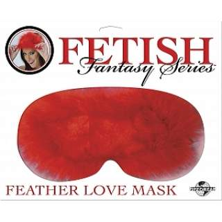 Fetish Feather Love Mask - RED #